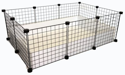 2x3 C&C Cage with Black Grids and White Tray