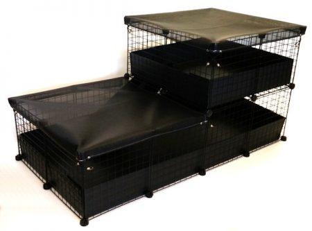 2x4 Safe-Pet C&C Cage with 2x2 Loft