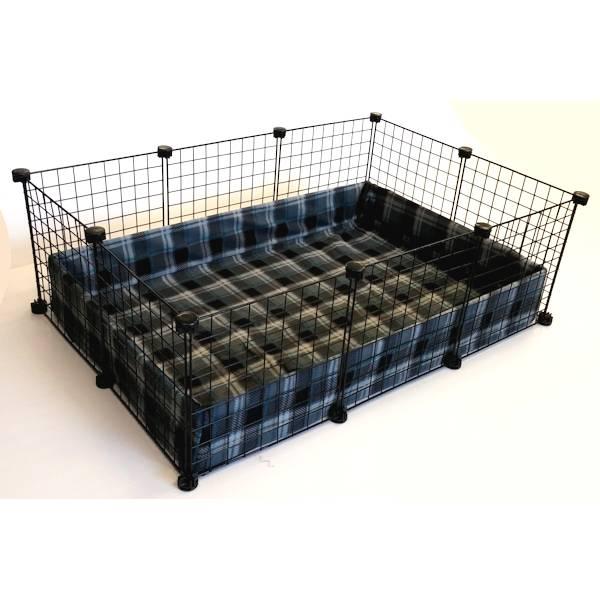 Piggy BedSpread - London Plaid Charcoal