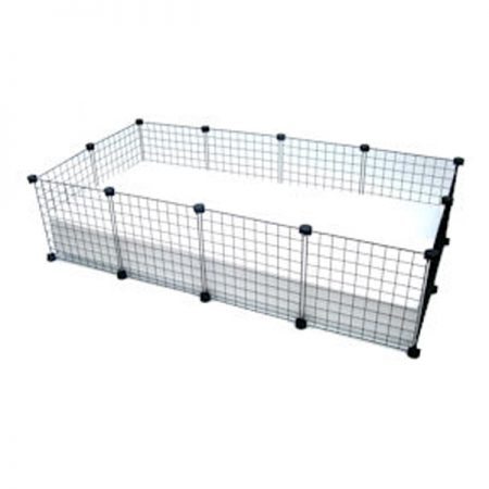 2X4 C&C Cage Black Grids with White Tray