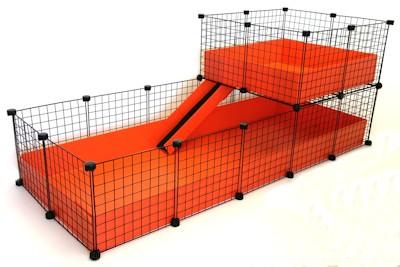 2x5 C&C Cage with 2x2 Loft