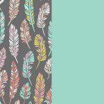 Bohemian-Feathers and Aqua